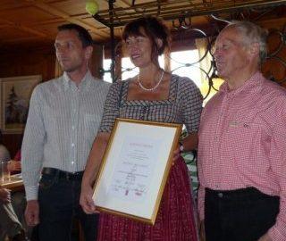14. Auszeichnung für den Panoramagasthof Kristberg, Silbertal