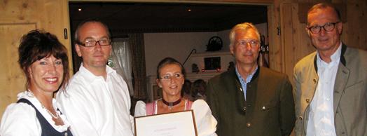 16. Auszeichnung für die Lecher Stube, Lech