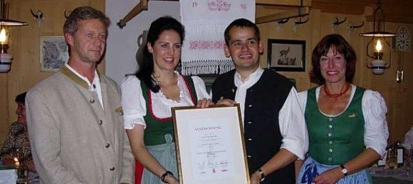 4. Auszeichnung für das Wirtshaus zum Gämsle, Schoppernau