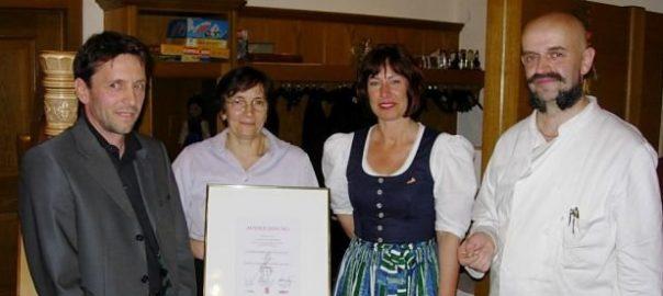 5. Auszeichnung für das Gasthaus Hirschen, Altach