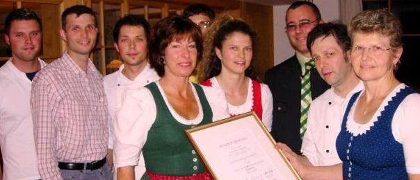 7. Auszeichnung für das Gasthaus Dreiländerblick am Oberfallenberg, Dornbirn